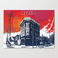 Save Detroit Canvas Print
