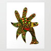 Finger Palm Tree Art Print