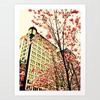 Street Blossoms Art Print