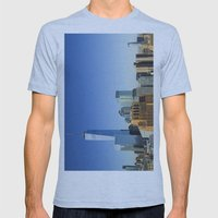World Trade Center Freedom Tower NYC Mens Fitted Tee Athletic Blue SMALL
