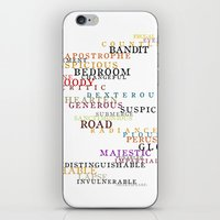 Word Inventions William Shakespeare Quote Art - Typography iPhone & iPod Skin