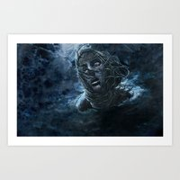 Open Water Horror Art Print