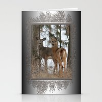 White-Tailed Deer In Win… Stationery Cards