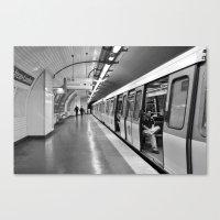 Paris, métro Canvas Print