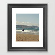 Me & Beach Framed Art Print