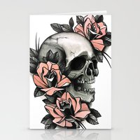 Skull And Roses - Tattoo Stationery Cards