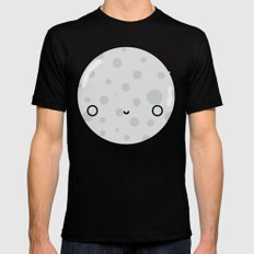 The Moon SMALL Black Mens Fitted Tee