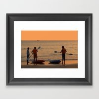 About To Go Kayaking Pal… Framed Art Print