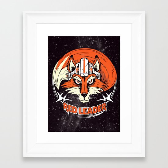 Red Leader Framed Art Print