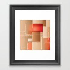Abstact Blocks Framed Art Print