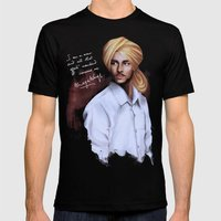 Shaheed Bhagat Singh Mens Fitted Tee Black SMALL