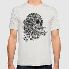 Carpe Noctem (Seize the Night) Mens Fitted Tee Silver SMALL