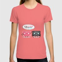FF & RW Vintage Womens Fitted Tee Pomegranate SMALL