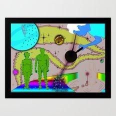 God and ants Art Print