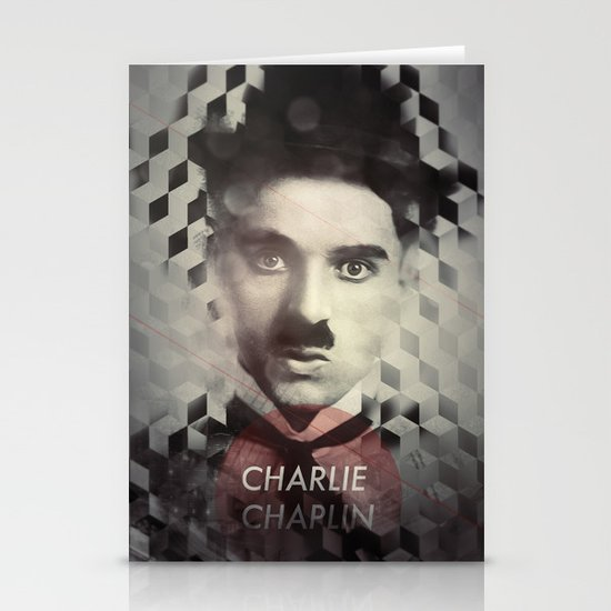 Charlie Chaplin Stationery Card