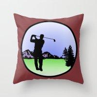 Golfer Throw Pillow