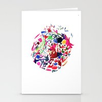 Cool Moon Stationery Cards