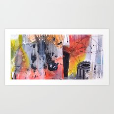 Abstract Experiment Art Print