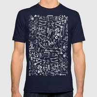 Hardware Mens Fitted Tee Navy SMALL