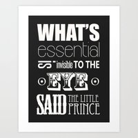 Quote from Little Prince Art Print
