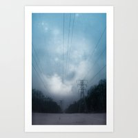 Midnight magic Art Print