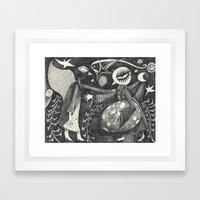 Night Secrets Framed Art Print