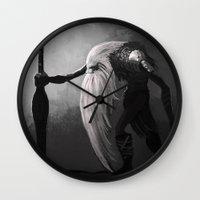 Old Barbarian Wall Clock