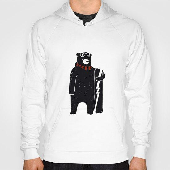 Bear on snowboard Hoody