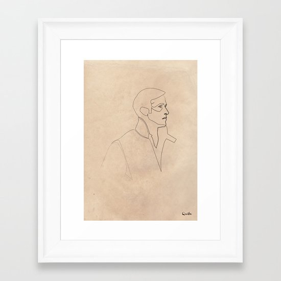 One line Drive (Ryan Gosling)  Framed Art Print