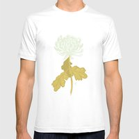 Ghost Flower Mens Fitted Tee White SMALL