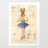 Bunny Ballerina Art Print