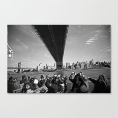 Tourists Under the Manhattan Bridge Canvas Print