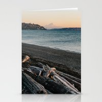 Mount Rainier Sunset Stationery Cards