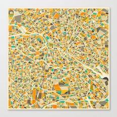 Berlin Map Canvas Print
