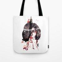 Dark Hair Tote Bag
