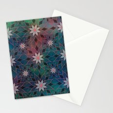 Water Lily Pattern Stationery Cards