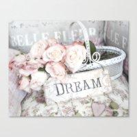 Shabby Chic Basket Dream… Canvas Print