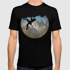 In the Sky Mens Fitted Tee Black SMALL
