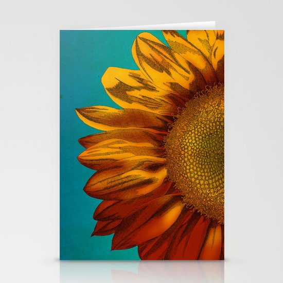A Sunflower Stationery Card