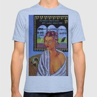 My Candid Mona Lisa Mens Fitted Tee Athletic Blue SMALL