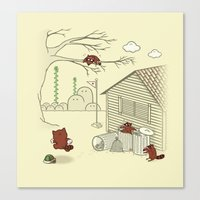 Unexpected Guest Canvas Print