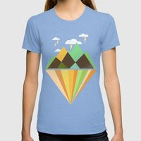 Void Dweller 2 Womens Fitted Tee Tri-Blue SMALL