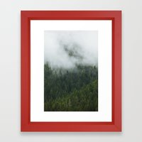 Tree Fog Framed Art Print