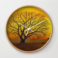 Rural sunset Wall Clock