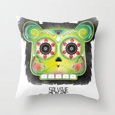 SALVAJEANIMAL DEADMex Throw Pillow