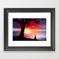 Roter Horizont. Framed Art Print