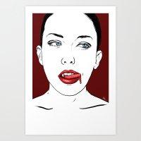 Vampire Lady #2 Art Print
