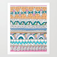 Tribal Lines #4 Art Print