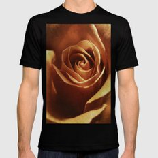 Dirty Rose Mens Fitted Tee Black SMALL
