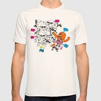 fight the power Mens Fitted Tee Natural SMALL